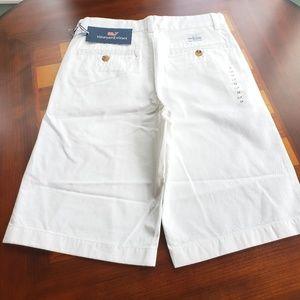 Vineyard Vines Boys Chino Shorts ~ White